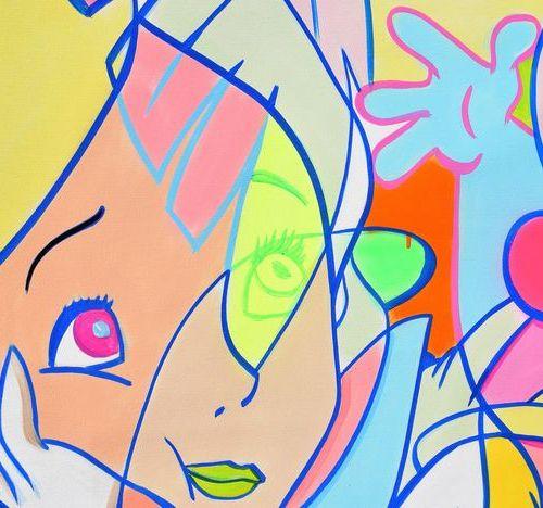Cross MAGRI Cross MAGRI (Ivan RUBIO)  In Wonderland, 2021  Acrylique sur toile  …