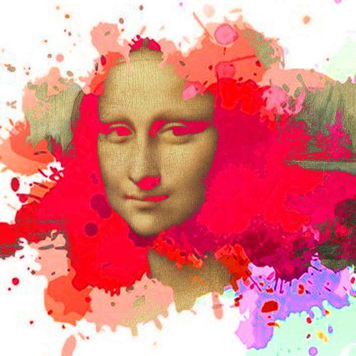 ROMANE JONCOEUR ( NÉ EN 1981) Mona Lisa, 2020  Print on acrylic glass mounted on…