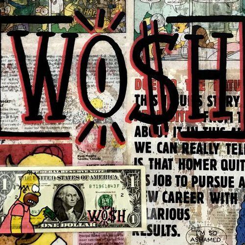 WO$H WO$H B71961843F  Acrylique sur panneau, Acrylique sur papier, Acrylique sur…