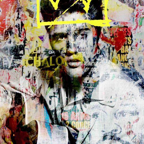 Romane JONCOEUR (Né en 1981) King Elvis! , 2020  Impression sur verre acrylique …