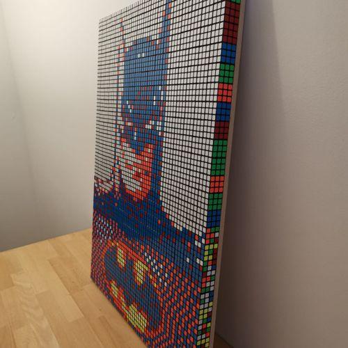 Odem K Odem K  BATCUBE, 2021  Technique de Rubik's cube Pixel (450 rubik's cube …