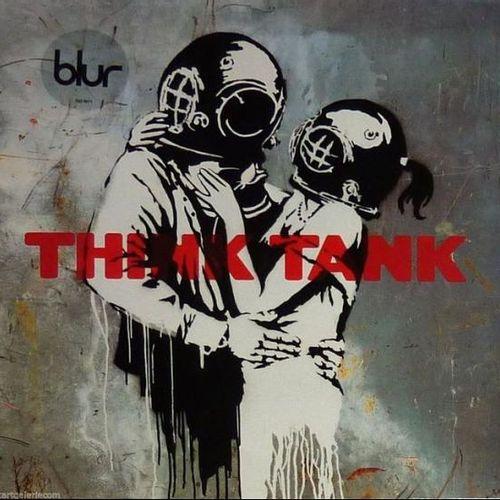 BANKSY (d'aprés) Think Tank    Sérigraphie sur Double vinyle de 33 tours en édit…