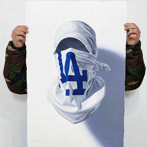 NUNO VIEGAS Nuno viegas  Shirt Mask x LA  76 x 50 cm  Edition de 75 exemplaires …