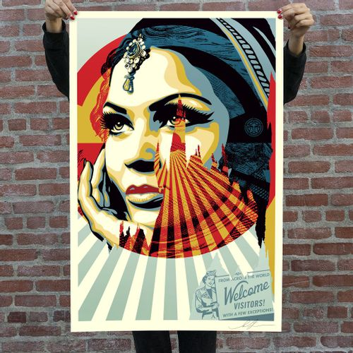 SHEPARD FAIREY (OBEY) TARGET EXCEPTIONS, 2020  91 x 60 cm. Lithographie offset s…