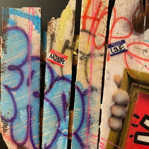 Onemizer ONEMIZER  TECHNIQUE : peinture aérosol, acrylique, feutre.  DIMENSIONS …
