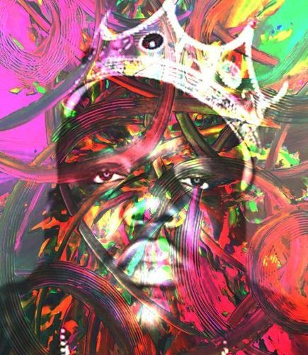 ROMANE JONCOEUR ( NÉ EN 1981) Notorious B.I.G, 2020  Impression sur verre acryli…