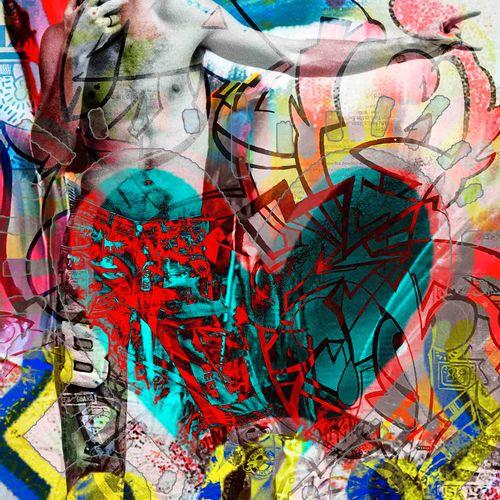 Romane JONCOEUR (Né en 1981) Keith Haring , 2020  Impression sur verre acrylique…