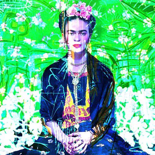 ROMANE JONCOEUR ( NÉ EN 1981) Frida Kahlo, 2020  Impression sur verre acrylique …