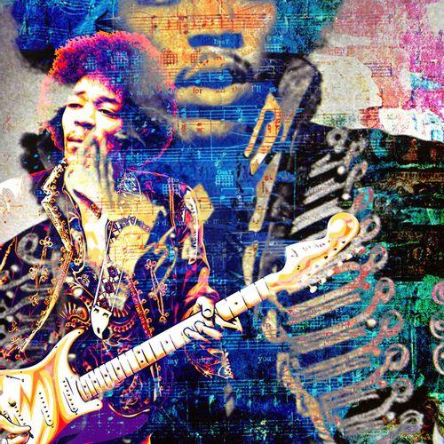 ROMANE JONCOEUR ( NÉ EN 1981) Jimi Hendrix, 2020  Impression sur verre acrylique…