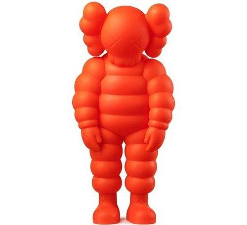 KAWS KAWS WHAT PARTY 2020  Figurine en vinyle orange  H 28 cm  Dans sa boîte d'o…