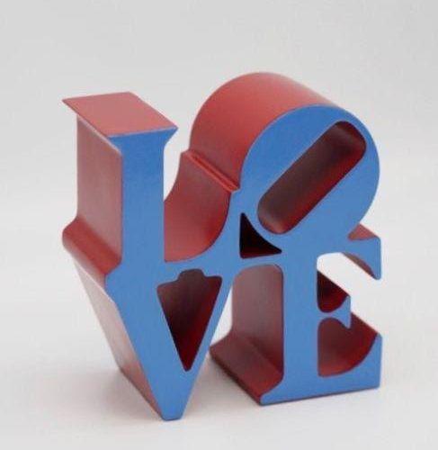 Robert INDIANA (d'après) Title: LOVE (Blue)  Edition: 500  Numéroté sous la base…