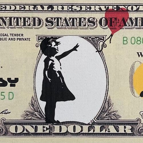 Banksy né en 1974 (D'après) BANKSY (né en 1974) Dismal Dollar 2015 Billet de ban…