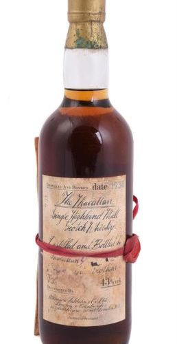 1938 Macallan This whisky is part of a collection started by the vendor's Grandf…