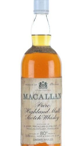 1951 Macallan This whisky is part of a collection started by the vendor's Grandf…