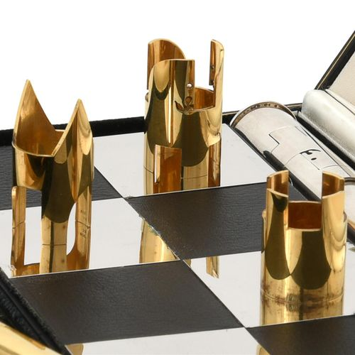 A silver limited edition chess set by Cyril Endfield A silver limited edition ch…