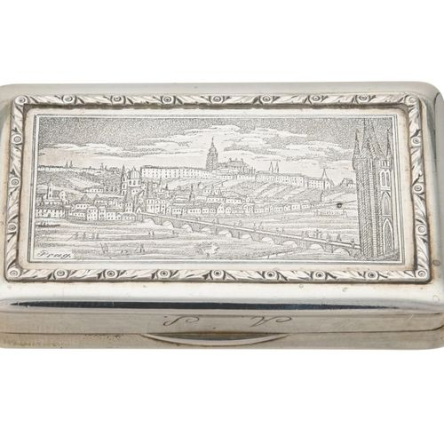 A Hungarian silver oblong snuff box A Hungarian silver oblong snuff box, Vienna …