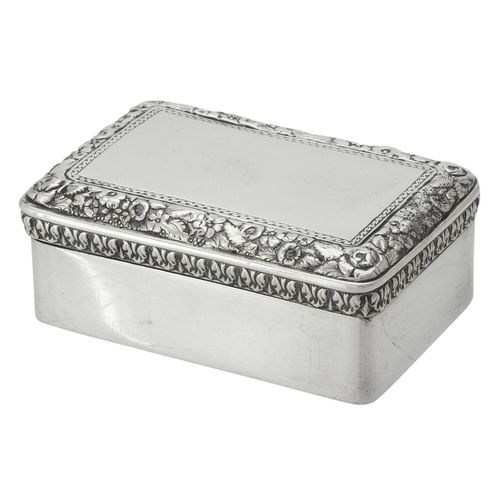 A George IV silver rectangular snuff box by Mary Ann & Charles Reilly A George I…