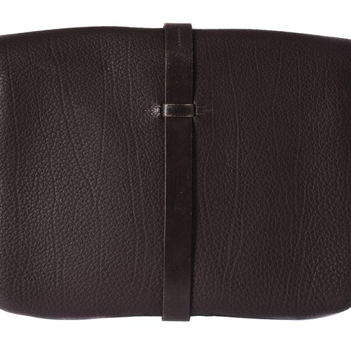Hermes, a brown leather satchel bag Hermes, a brown leather satchel bag, with a …