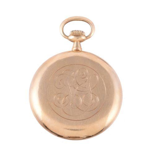Unsigned,18 carat gold keyless wind open face pocket watch Montre de poche non s…
