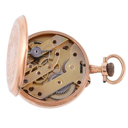 Unsigned, Gold open face keyless wind pocket watch Sans signature,Montre de poch…