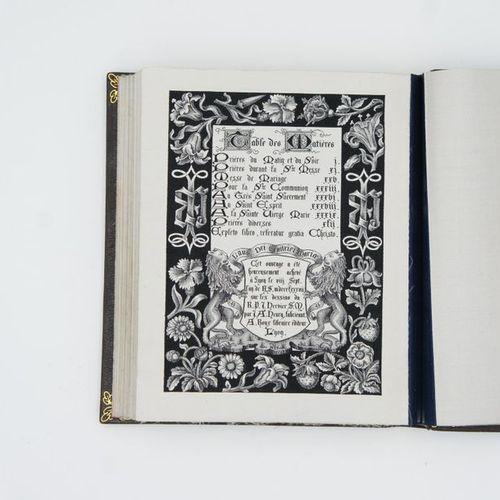 PRAYER BOOK WOVEN ON SILK. Prayer book woven after the illuminations of 14th cen…