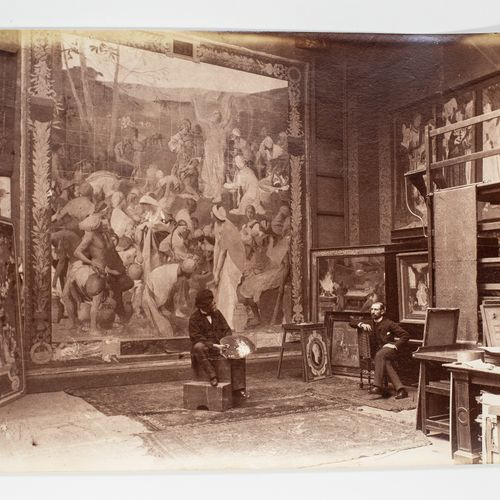 BENARD Edmond (1838 1907) BENARD Edmond(1838 1907)  L'atelier du peintre françai…