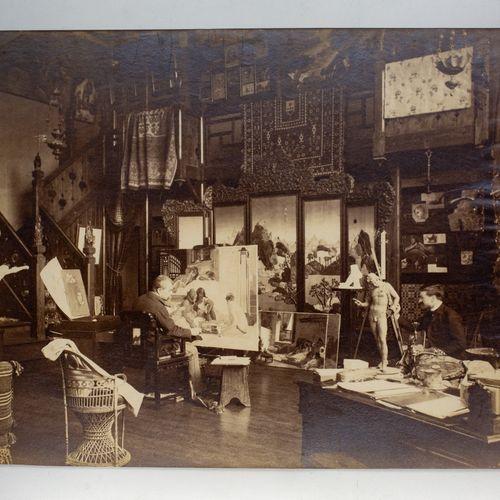 BENARD Edmond (1838 1907) BENARD Edmond (1838 1907)  L'atelier du sculpteur fran…