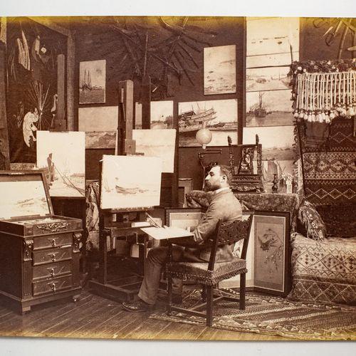 BENARD Edmond (1838 1907) BENARD Edmond (1838 1907)  L'atelier du peintre frança…