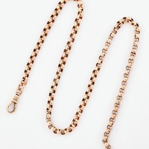Un collier de chaîne VICTORIEN, en maillons facettés de type Belcher, avec clip.…