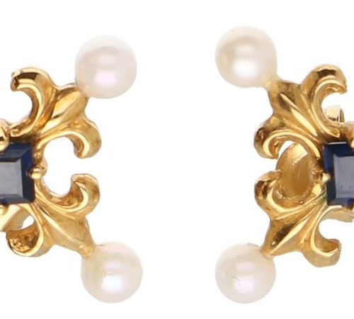 Igor Carl Fabergé set of classic earrings / pendant yellow gold, approx. 0.04 ct…