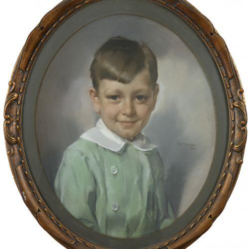 Jan Franken (Tilburg 1878 1959 Den Haag), Portrait of a young boy. Signed, and d…