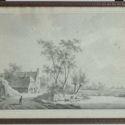 Nicolaas Wicart (Utrecht 1748 – 1815), A river landscape in the vincinity of Utr…