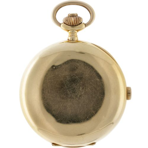 Lemania savonette chronograaph Men's Pocket Watch appr. 1910. 表壳:黄金(18K) 手动上链 直径…