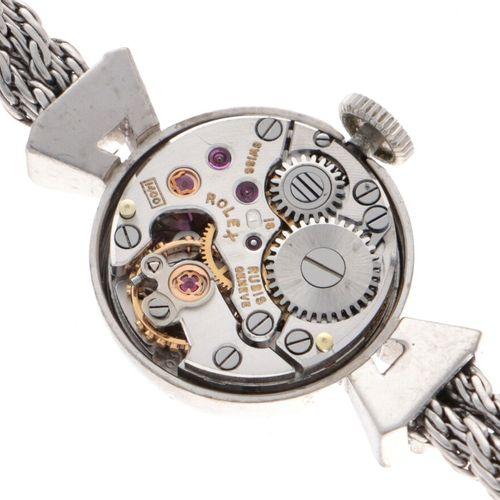 Rolex Precision Ladies Watch White Gold appr. 1960 表壳:18K白金 表带:18K白金 手动上链 表壳镶嵌2颗…