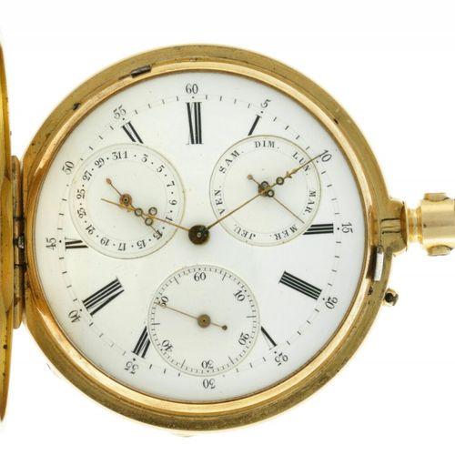 Brevete Men's savonette pocket watch appr. 1876. Boîtier : or jaune (18 kt.) rem…