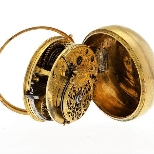 Thornton London Verge Fusee Men's pocket watch apprx. 1750. 表壳:黄金(22K) 手动上链 状态:良…