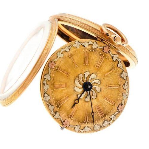 Pocket watch gold, verge escapement Men's pocket watch Manual winding apprx. 180…