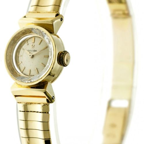 Omega 374524 Ladies watch apprx. 1958. 表壳: 黄金(18K) 表带: 黄金(18K) 手动上链 状态: 良好 直径: 1…