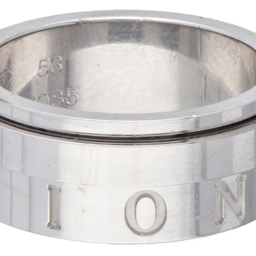 18K. White gold Piaget 'Possession' movable band ring set with approx. 0.04 ct. …