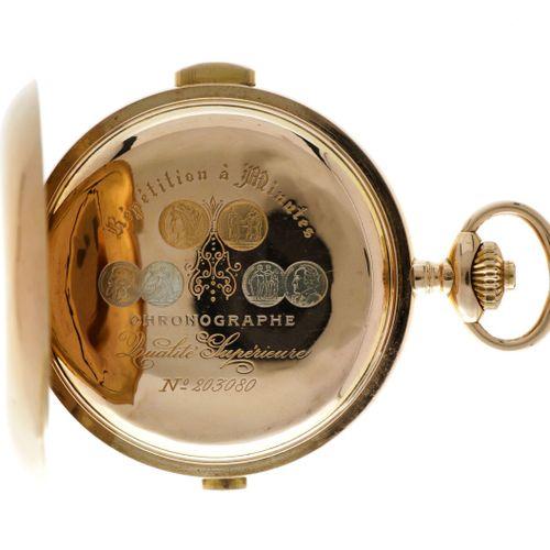 Chronograph Minute Repetition Lever Escapement Men's pocket watch apprx. 1900. B…