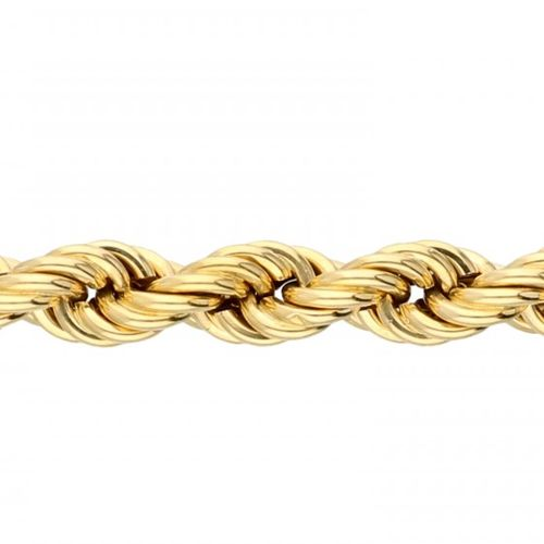 18K. Yellow gold vintage Uno A Erre twisted link bracelet. Poinçons : Gori & Zuc…