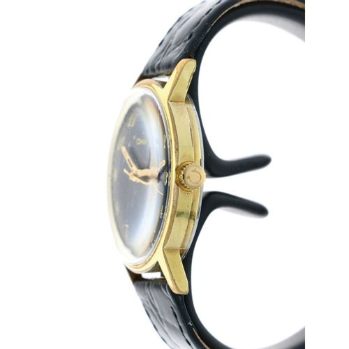 Omega Genéve 135.070 Men's watch ca. 1970 boîtier : or/acier bracelet : cuir rem…