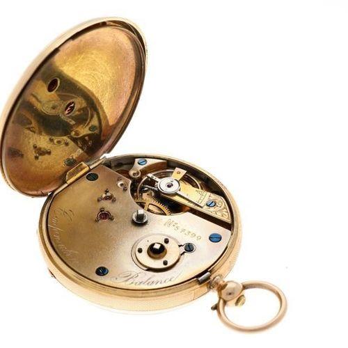 Pocket watch gold Men's pocket watch Manual winding apprx. 1850. 状态:良好 表壳材质:黄金 含…