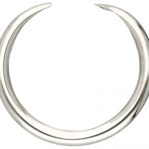 Silver Hermès collar necklace 925/1000. Poinçons : Ag 925, LG, poinçons français…