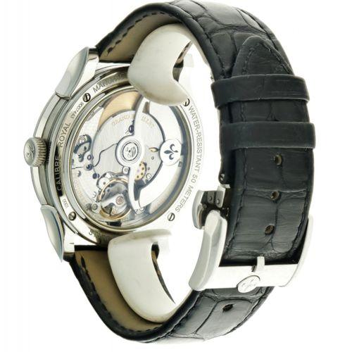Pequignet Rue Royale Men's watch apprx. 2010. Boîtier : acier bracelet : cuir au…