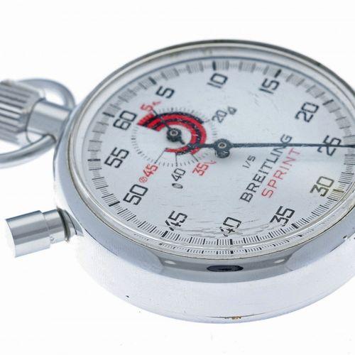 Breitling stopwatch pocket watch appr. 1960. Boîtier : acier remontage manuel ét…