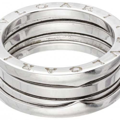 18K. White gold Bvlgari 'B.Zero1' 3 band ring. 印记:750, 60, Au750, 2337 Alessandr…