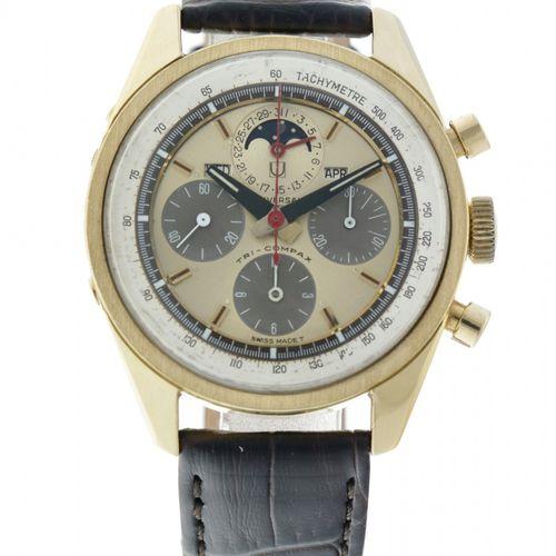 Universal Geneve Tri Compax 181102 Men's watch 1969. Boîtier : or jaune (18 kt.)…