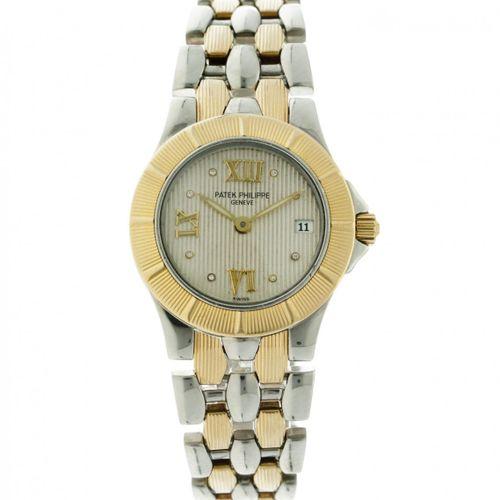 Patek Philippe Neptune 4880/1JA Ladies watch 1998. 表壳: 金/钢 表带: 金/钢(18K) 石英 全套 状态…