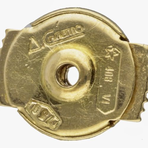 18K. Bicolor gold Chimento Italian design earrings. 印记:408 Vicenza, Chimento, 75…